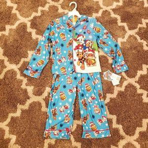 🎄 NWT! Paw Patrol 2 Pc Christmas Pajama Coat Set!